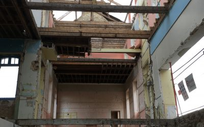 Démolition de l'ancienne Ecole Sainte Anne